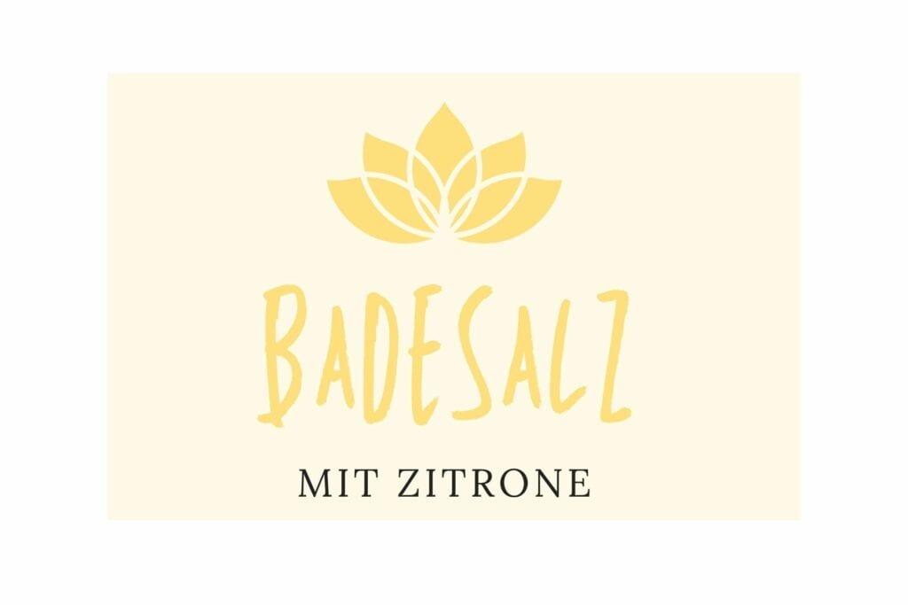 Badesalz Etikett - Zitrone klein
