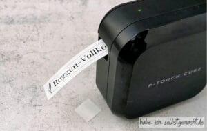 Brother P-touch CUBE Etiketten - Druck