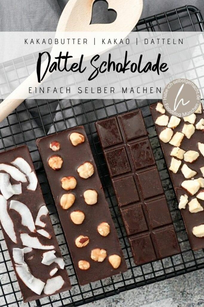 Dattel Schokolade selber machen