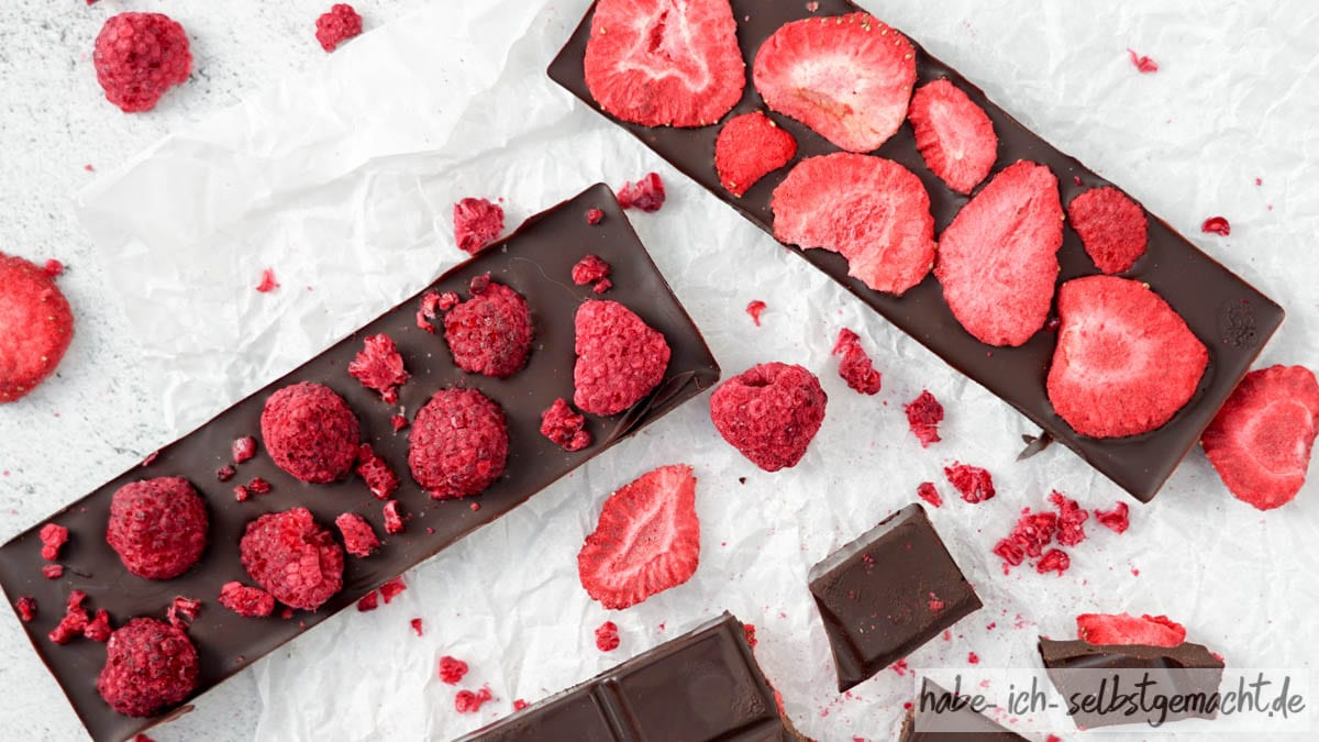 Dattel Schokolade ohne Zucker selber machen