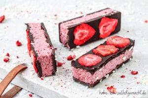Erdbeer Kokos Riegel