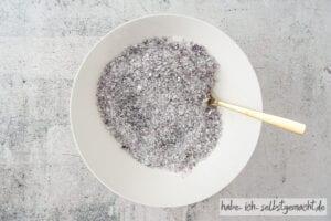 Lavendel Badesalz einfärben