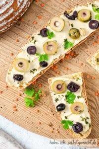 Linsenbrot mit Dinkel - belegtes Brot