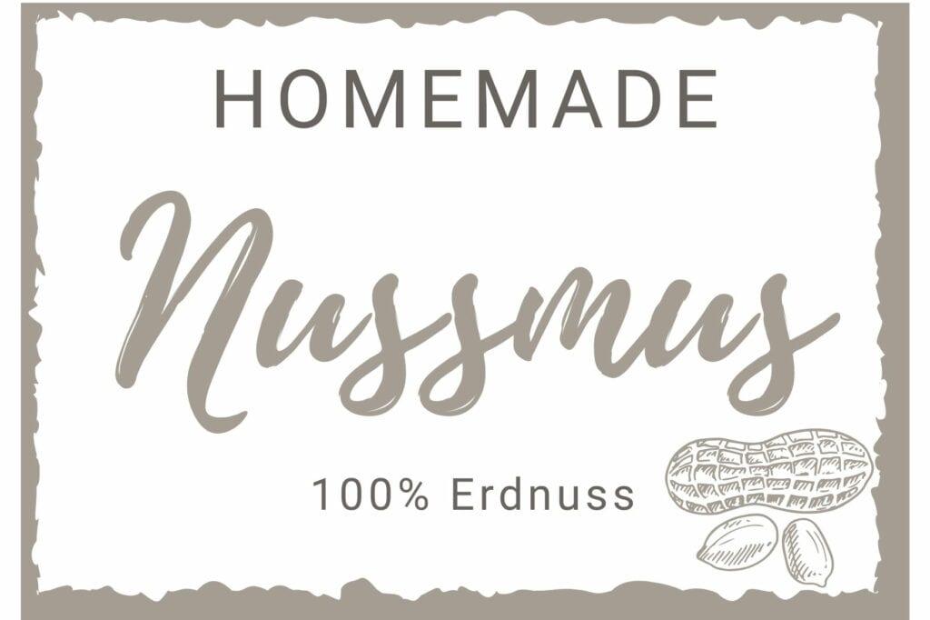Nussmus Etikett - Erdnuss