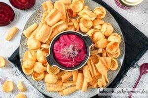 Rote Bete Aufstrich mit Chips