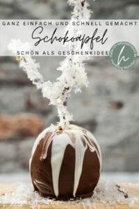 Schokoäpfel Pinterest Flyer