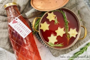 Apfel Cranberry Glühwein selber machen
