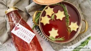 Apfel-Cranberry Glühwein selber machen