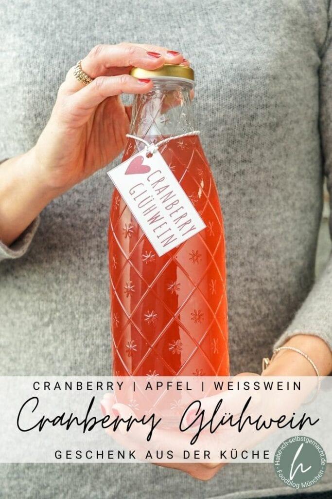 Cranberry Glühwein Pinterest Flyer