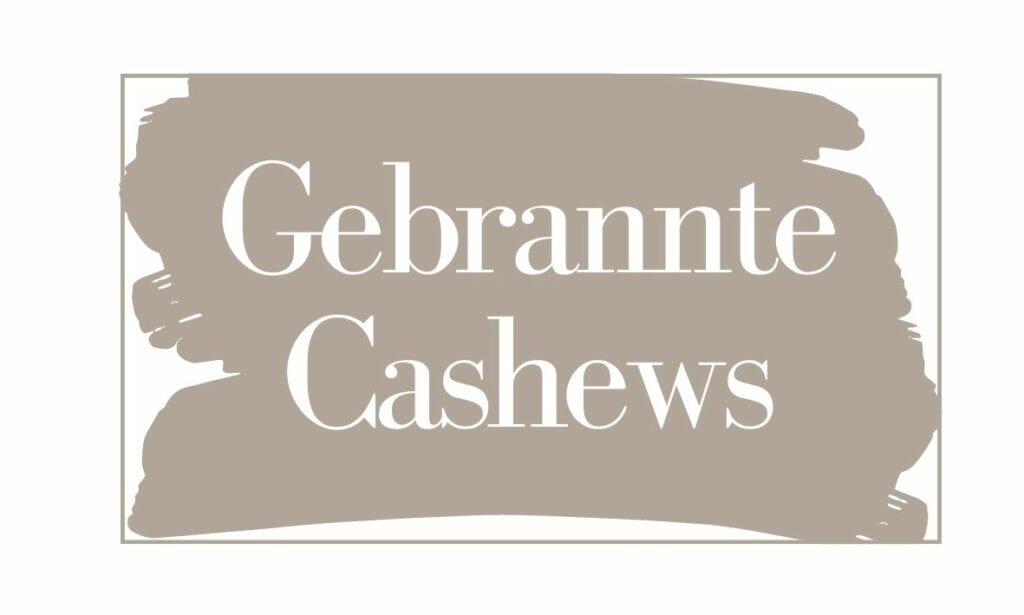 Etikett Gebrannte Cashews (klein)