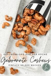 Gebrannte Cashews Pinterest Flyer