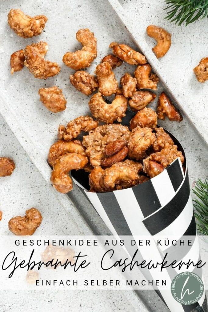 Gebrannte Cashews Pinterest Flyer