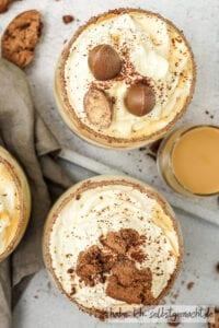 Karamell Creme Dessert mit Schoko Cookies