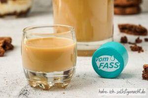 Karamell Creme Dessert mit Caramel avec Fleur de Sel Sahnelikör von vomFASS