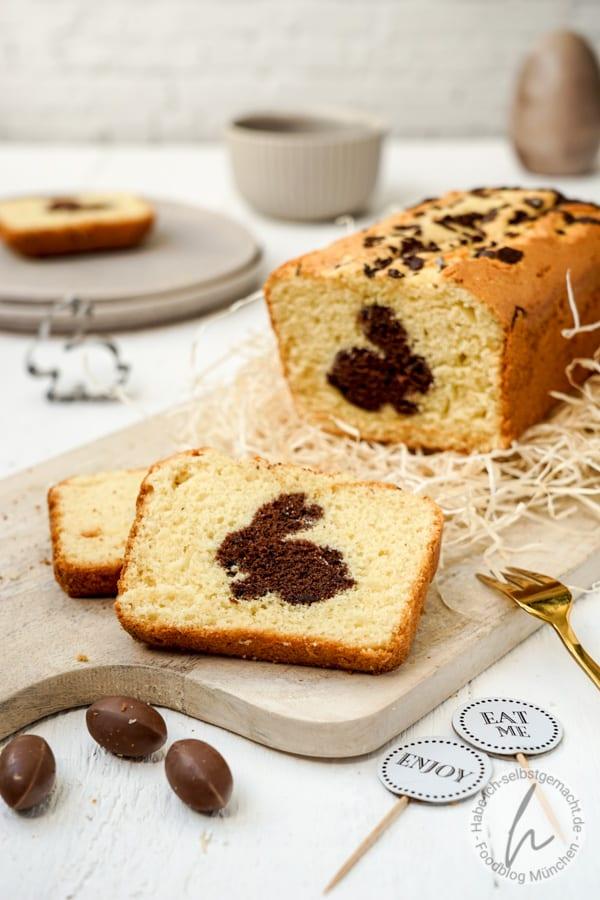 Marmorkuchen mit Osterhase