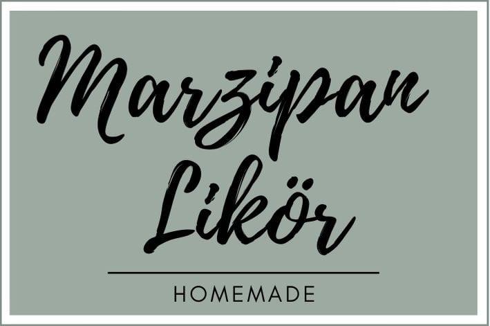 Etikett für den Marzipan Likör