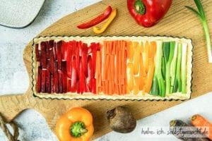 Regenbogen Quiche Gemüse Quiche