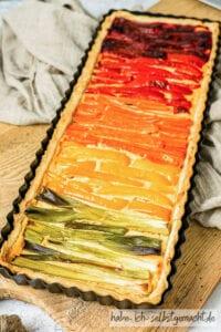 Bunte Gemüsequiche (Regenbogen Quiche)