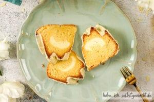 Saftiger Zitronenkuchen mit Marmorkuchen Füllung