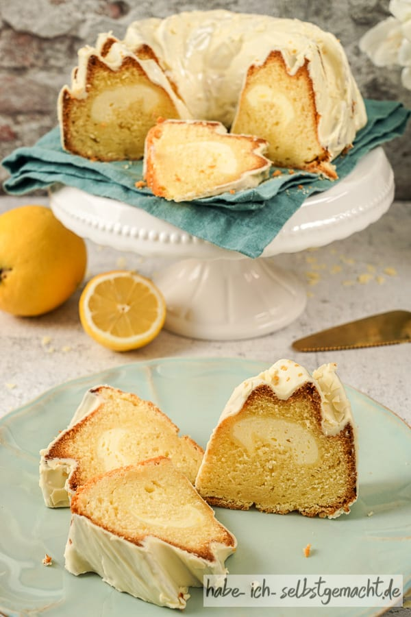 Saftiger Zitronenkuchen mit Marmorkuchen