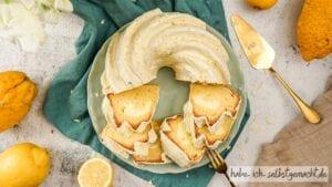Saftiger Zitronenkuchen mit Käsekuchen Füllung