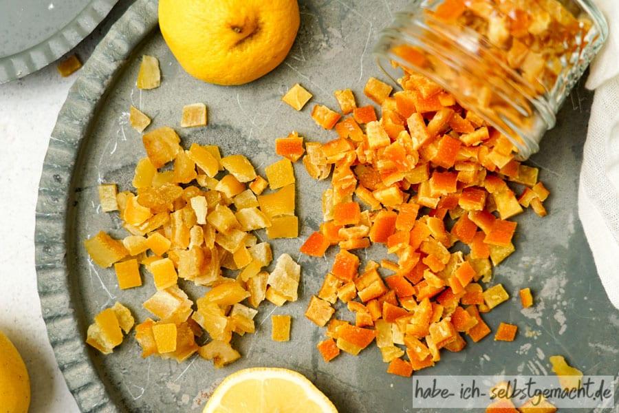 Zitronat und Orangeat herstellen