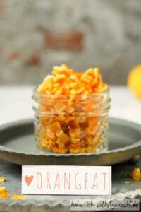 Orangeat mit Etikett