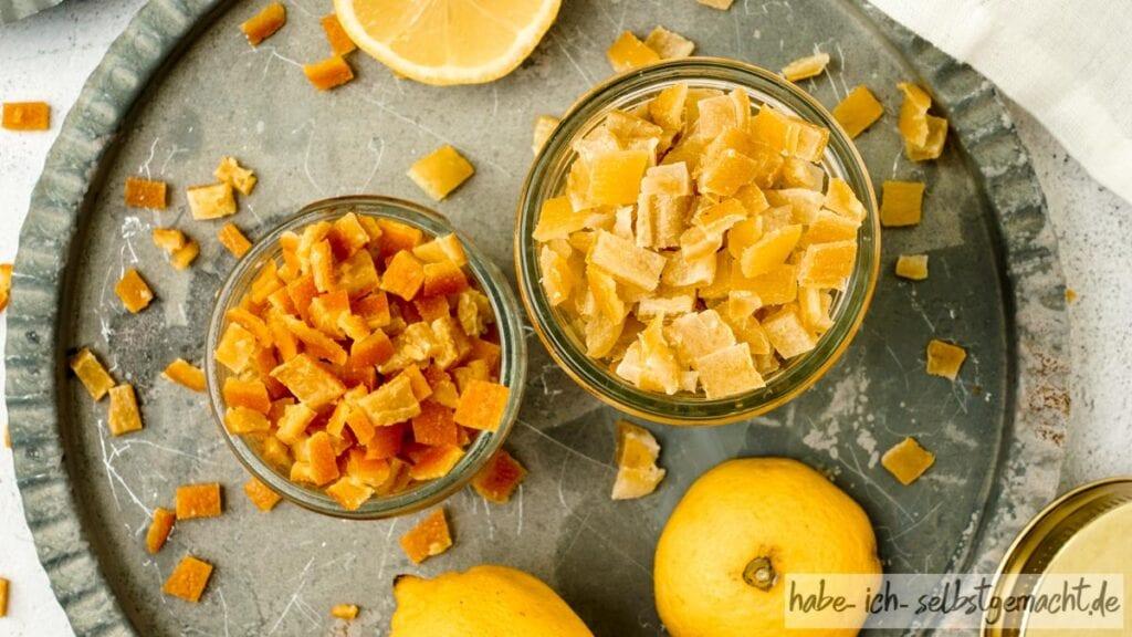Zitronat und Orangeat selber machen