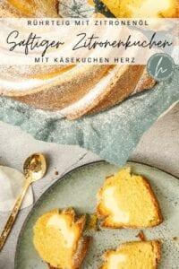Zitronenkuchen mit Käsefüllung
