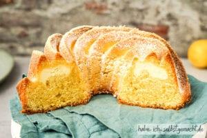 Zitronenkuchen mit Käsekuchen Herz