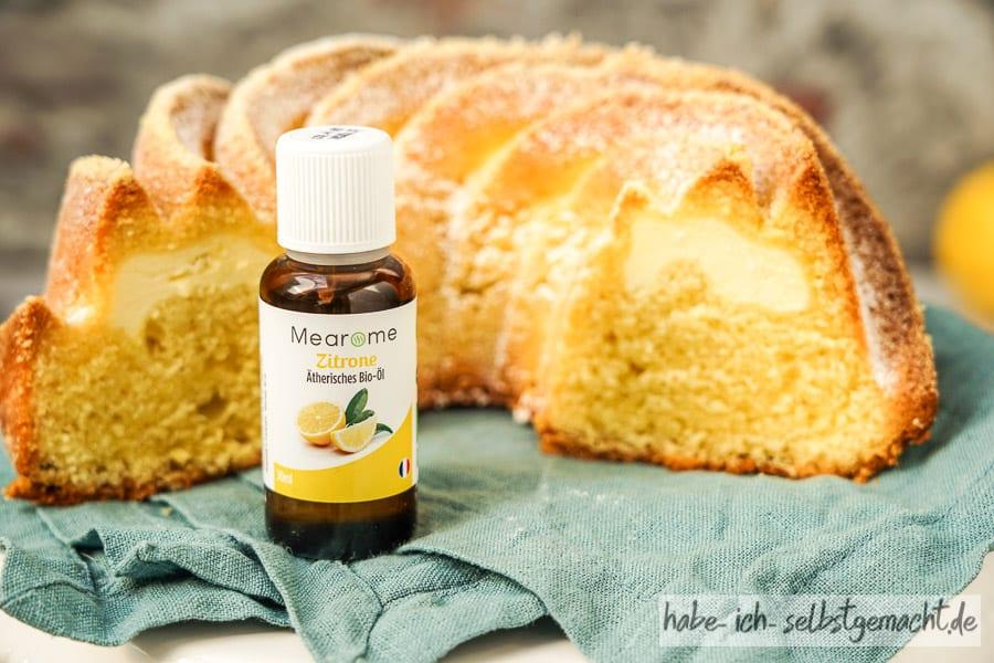 Zitronenkuchen mit ätherischem Öl