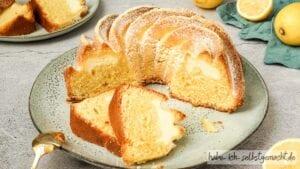 Zitronenkuchen mit Käsekuchen Füllung