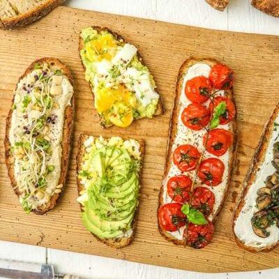 5 kreative vegane und vegetarische Brotbeläge