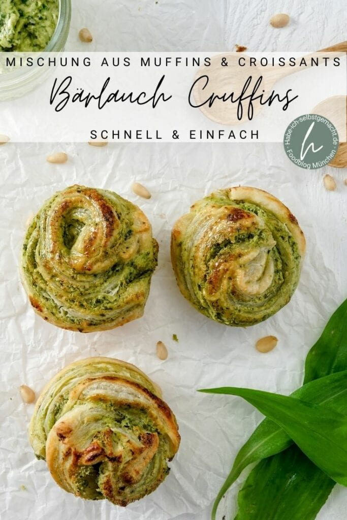 Bärlauch Muffins (Cruffins) Pinterest Flyer