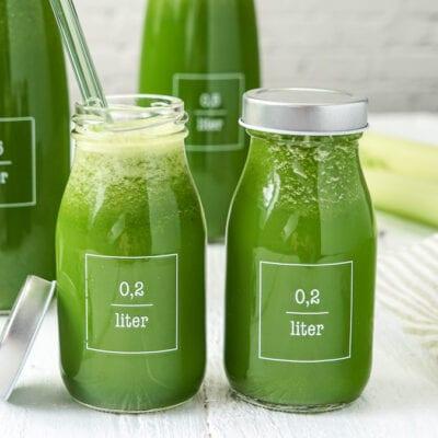 Saft #23 – Grüner Saft mit Spinat Apfel Sellerie