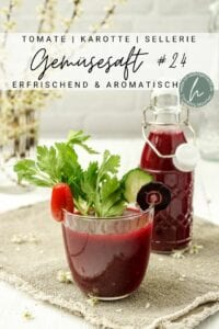 Frischer Saft mit Tomate Karotte Sellerie Pinterest Flyer