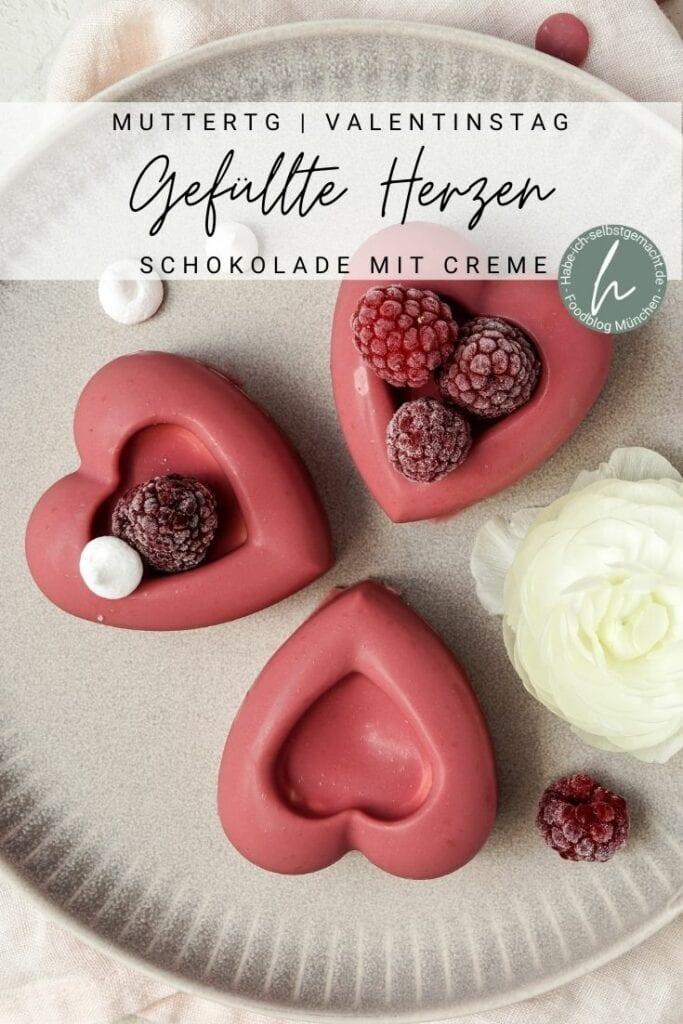 Herz-Pralinen zum Muttertag