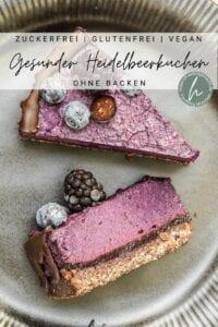 No Bake Heidelbeerkuchen