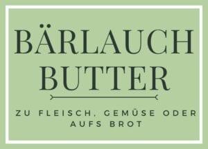 Bärlauchbutter Etikett