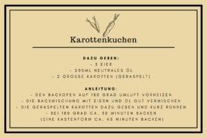 Rüblietorte Etikett