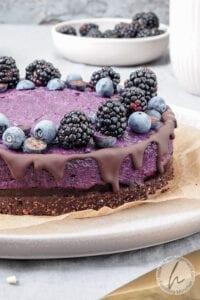 No Bake Blaubeertorte