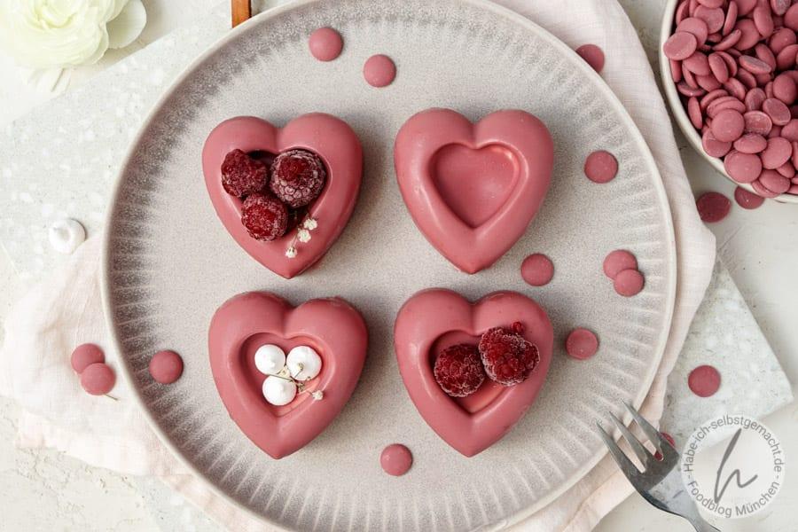 Gefüllte Schoko Herzen zum Muttertag oder Valentinstag