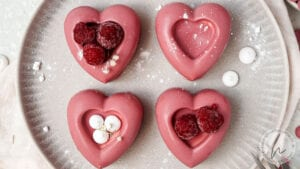 Gefüllte Herzen als Nachtisch