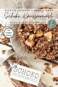 Schoko Knuspermüsli ohne Zucker