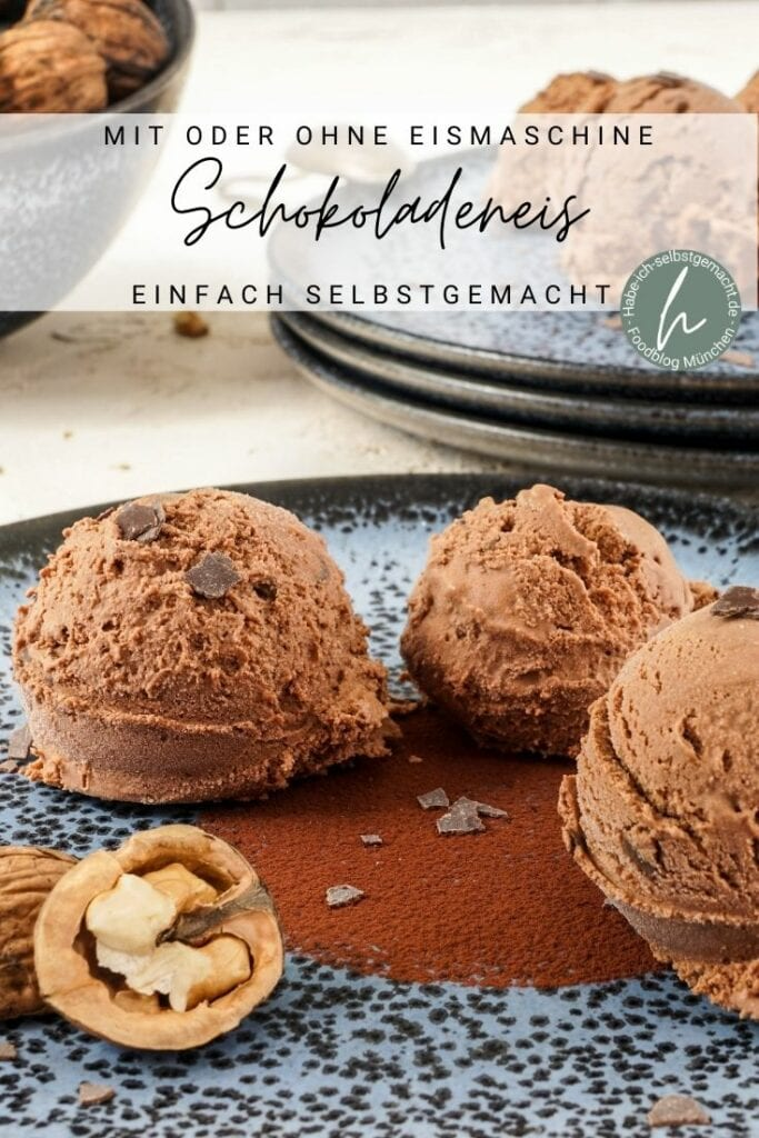 Cremiges Schokoladeneis