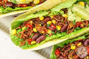 Vegane mexikanische Wraps