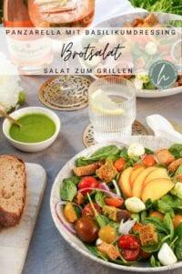 Brotsalat als Grillsalat