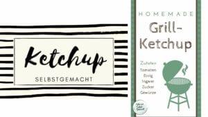 Etiketten für das Ketchup