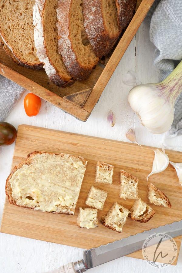 Zubereitung Brotsalat