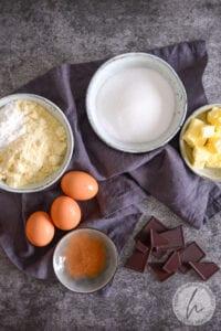 Zutaten für die Tarte au chocolat